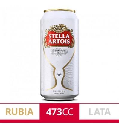 CERVEZA STELLA  ARTOIS LATA 473CC x 6 un.