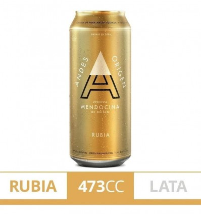 CERVEZA ANDES RUBIA LATA 473CC x 6 un.