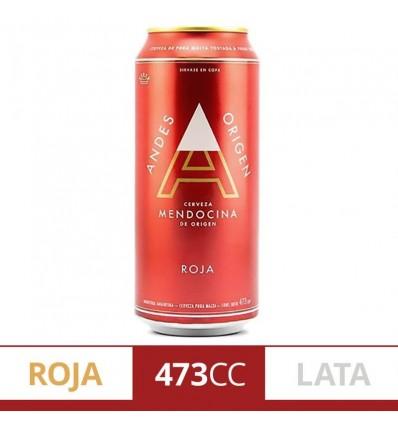 CERVEZA ANDES ROJA LATA 473CC x 6 un.